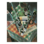 Juan Gris - Still Life with checked tablecloth Poster