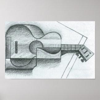 Juan Gris - The Guitar Poster