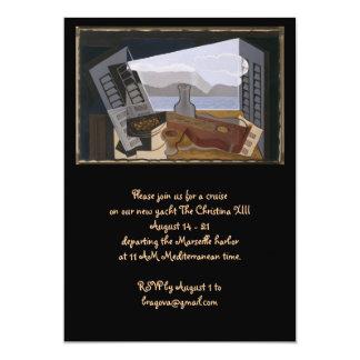 Juan Gris The Open Window 13 Cm X 18 Cm Invitation Card