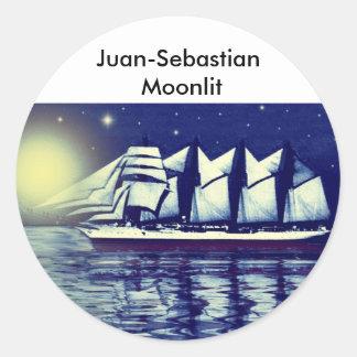 Juan-Sebastian / Moonlit Round Sticker