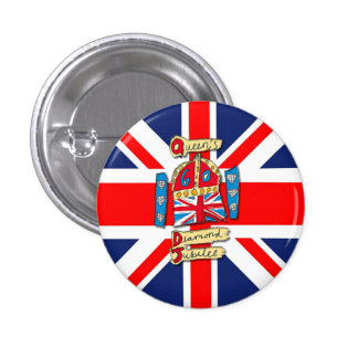 Jubilee Union Jack Pinback Button