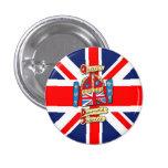 Jubilee Union Jack Pinback Button