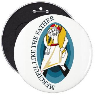 JUBILEE YEAR OF MERCY GEAR 6 CM ROUND BADGE