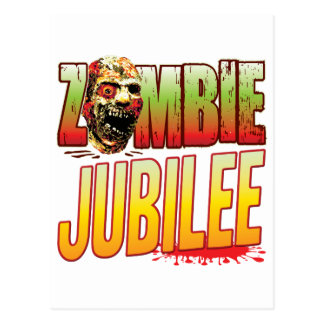Jubilee Zombie Head Postcard