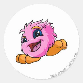 JubJub Pink Round Sticker