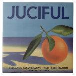 Juciful Orange Crate Label Ceramic Tile