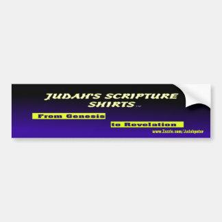 Judah's Scripture Shirts Car Bumper Sticker