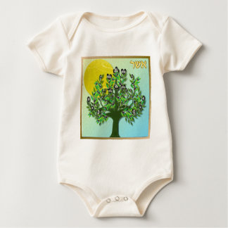 Judaica 12 Tribes Israel Asher Baby Bodysuit