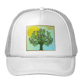 Judaica 12 Tribes Israel Asher Mesh Hat