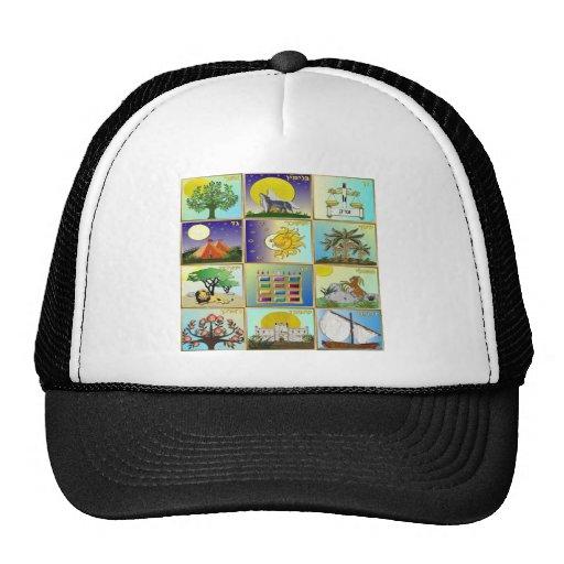 Judaica 12 Tribes of Israel Art Mesh Hat