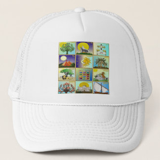 Judaica 12 Tribes Of Israel Art Panels Trucker Hat