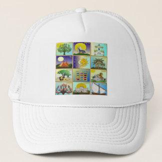 Judaica 12 Tribes Of Israel Art Panels Trucker Hat