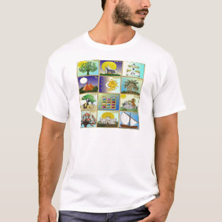 Judaica 12 Tribes of Israel Art T-Shirt