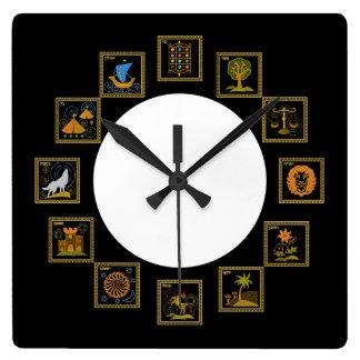 Judaica 12 Tribes of Israel Clock