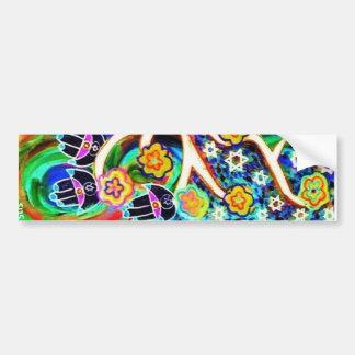 Judaica Hamsa Ivory Tree Of Life Bumper Stickers