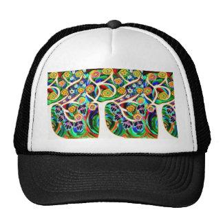 Judaica Hamsa Ivory Tree Of Life Mesh Hats