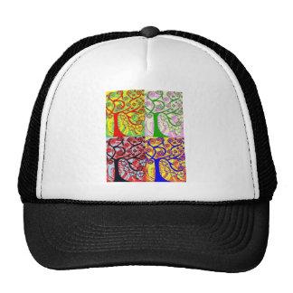Judaica Hamsa Tree Of Life Sunrise Mesh Hat