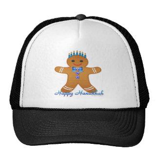 Judaica Hanukkah Gingerbread Man Menorah Cap