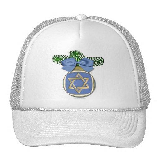 Judaica Hanukkah Star Of David Ornament Print Mesh Hat