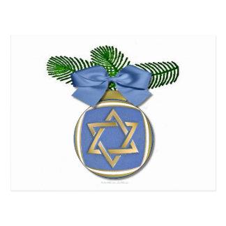 Judaica Hanukkah Star Of David Ornament Print Postcard
