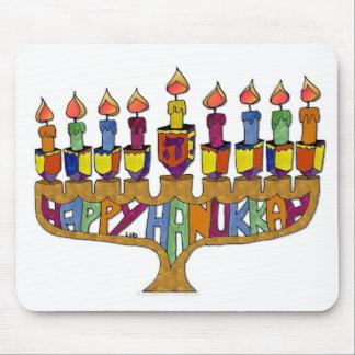 Judaica Happy Hanukkah Dreidel Menorah Mouse Pads
