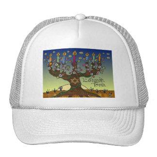 Judaica L'shanah Tovah Tree Of Life Gifts Apparel Cap
