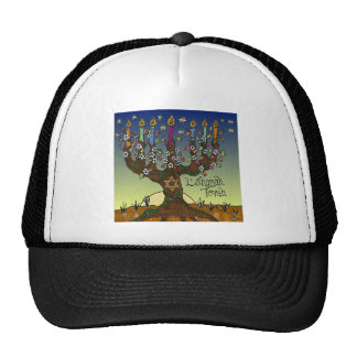 Judaica L'shanah Tovah Tree Of Life Gifts Apparel Cap