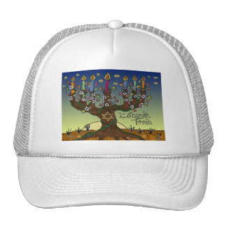 Judaica L'shanah Tovah Tree Of Life Gifts Apparel Hat