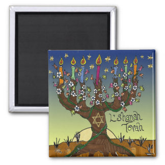 Judaica L'shanah Tovah Tree Of Life Gifts Apparel Magnets