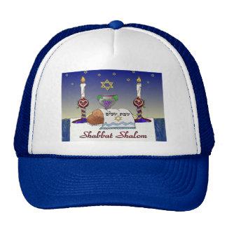 Judaica Shabbat Shalom Art Print Cap
