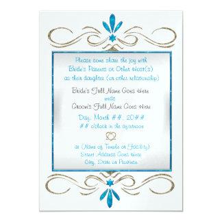 Judaism Flourishes (Wedding Ceremony) 13 Cm X 18 Cm Invitation Card