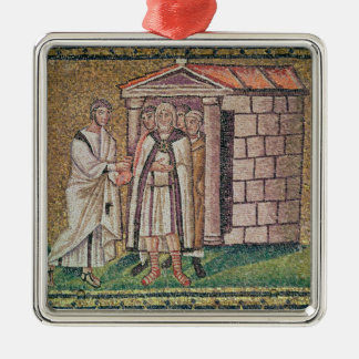 Judas Repents, Scenes from the Life of Christ Silver-Colored Square Decoration