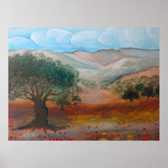 Judea Hills, Ben Shemen Forest, Israel. Poster