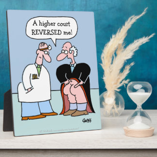 Judge and Doctor Cartoon for Lawyers Plaques