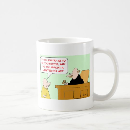 judge appoint lawyer cooperative coffee mug