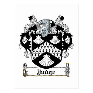 Judge Family Crest Postcard