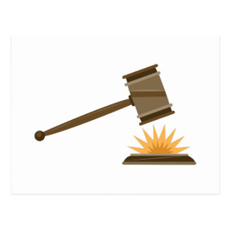 Judge Gavel Postcard