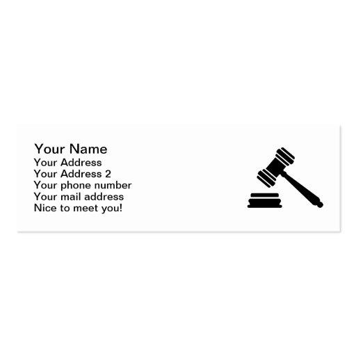 Judge hammer business cards