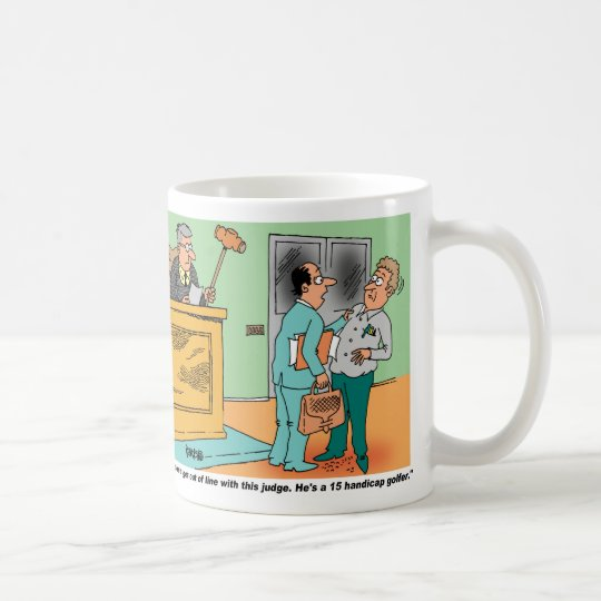 Judge Holds Long Handled Gavel Coffee Mug