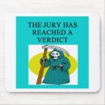 JUDGE joke Mouse Pad