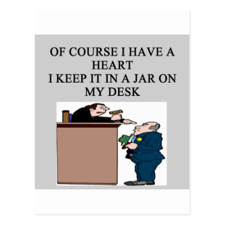 JUDGE joke Postcard