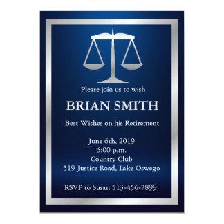 Judge Lawyer Retirement Law School Graduation 13 Cm X 18 Cm Invitation Card