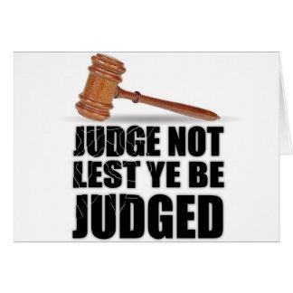 """Judge Not"" Notecards Greeting Card"