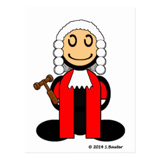 Judge (plain) postcard