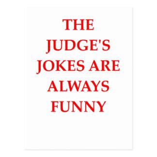 JUDGE POSTCARD