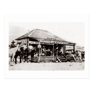 Judge Roy Bean Law West of the Pecos Postcard