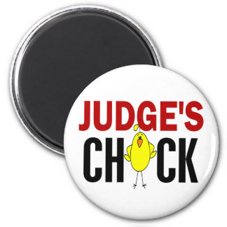 JUDGE'S CHICK 6 CM ROUND MAGNET