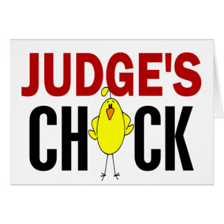 JUDGE'S CHICK CARD