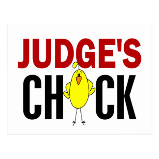 JUDGE'S CHICK POSTCARD