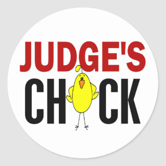 JUDGE'S CHICK ROUND STICKERS